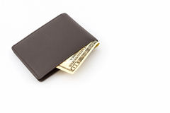 Brown leather wallet. Royalty Free Stock Image