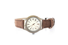 Brown leather watch Royalty Free Stock Photography