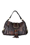 Brown leather woman bag Stock Image