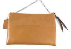 Brown Leather woman bag Stock Images