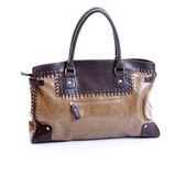 Brown Leather Woman Handbag Royalty Free Stock Photo