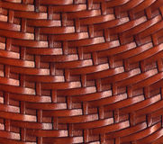 Brown Leather Woven Texture Background. Background with texture of small strips of brown leather braided Stock Photos