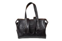 Brown leatherette handbag. Stock Photography