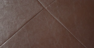 Brown leatherette texture for background. Royalty Free Stock Photo