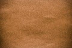 Brown-Lederbeschaffenheitsnahaufnahme und Musterhintergrund stockbild
