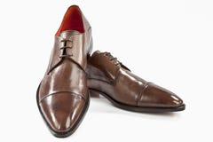 Brown-lederne Schuhe Stockbild
