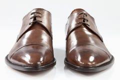 Brown-lederne Schuhe Lizenzfreie Stockbilder
