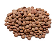Brown lentils Stock Photography