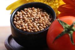 Brown lentils. Beautiful shot of brown lentils in bowl Stock Photos