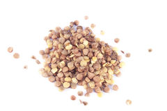 Free Brown Lentils Lens Culinaris Isolated Stock Images - 63754924