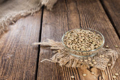 Brown Lentils Stock Images