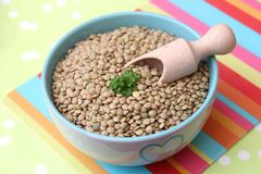 Brown Lentils Stock Photo
