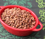 Brown lentils Stock Photos