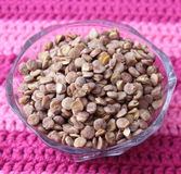 Brown lentils. Some fast cooking brown lentils stock images