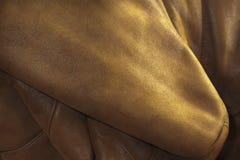 Brown lether texure Lizenzfreies Stockfoto