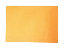 Brown letter envelope isolated Stock Photo
