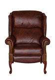 Brown library leather chair Stock Image