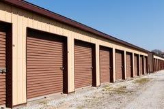 Brown liczył jaźń magazyn i mini składowe garaż jednostki IV Obrazy Royalty Free