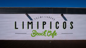 Brown Limipicos Beach Cafe Wooden Wall Decor Royalty Free Stock Photo