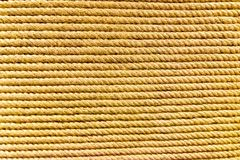 Brown linen rope. Pattern texture background Royalty Free Stock Image