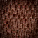 Brown linen texture Stock Photography
