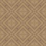 Brown linii Ornamentacyjny Bezszwowy wzór Obrazy Royalty Free