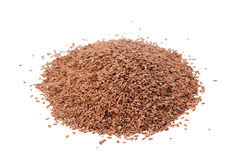 Brown Linseed or Flax seed Stock Photo
