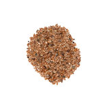 Brown linseed Stock Photography