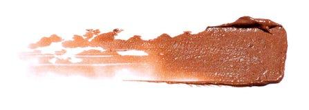 Brown-Lippenstiftprobe Stockfotografie