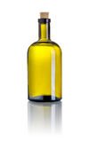 Brown liquor bottle on a white background Stock Photography