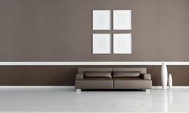 Brown living room royalty free illustration
