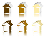 Brown logo of house Stock Images