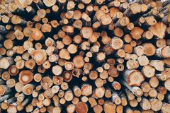 Brown Logs Stock Photography