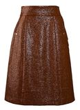Brown long skirt Royalty Free Stock Photography