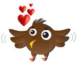 Brown Love Bird Stock Photo