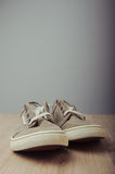 Brown lovely sneakers Royalty Free Stock Images
