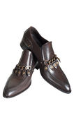 Brown low shoes Royalty Free Stock Photos