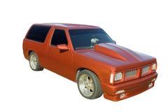 Brown lowered SUV Stock Photo
