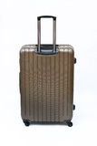 Brown luggage isolated stock photography