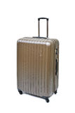 Brown luggage isolated royalty free stock photography