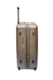 Brown luggage isolated stock image