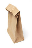 Brown Lunch Bag. On White Background Stock Image