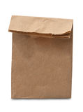 Brown lunch bag isolated royalty free stock image
