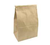 Brown Lunch bag paper Royalty Free Stock Photography