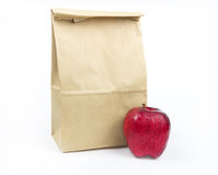 Brown Lunch bag paper Royalty Free Stock Image