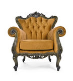 Brown Luxurious armchair Stock Photo
