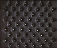 BROWN LUXURY PADDED STUDDED LEATHER BACKGROUND Royalty Free Stock Images