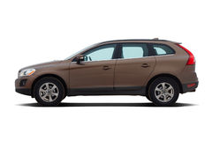 Brown luxury SUV stock images