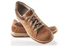 Brown-Männer ` s Schuhe Lizenzfreie Stockbilder