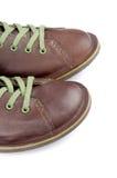Brown mężczyzna buty Zdjęcie Stock